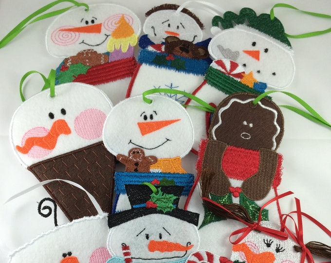 Gift Card Holders Snowmen Mittens And Wishes for 5x7 hoop  ( 9 Machine Embroidery Designs from ATW )
