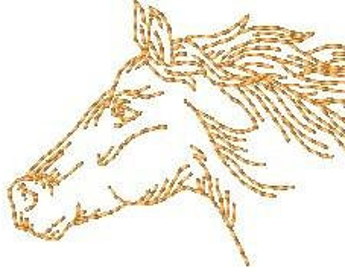 Horses in Redwork   ( 10 Machine Embroidery Designs from ATW )