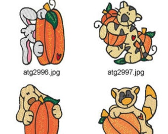 Pumkin-Pals ( 7 Machine Embroidery Designs from ATW ) XYZ17I