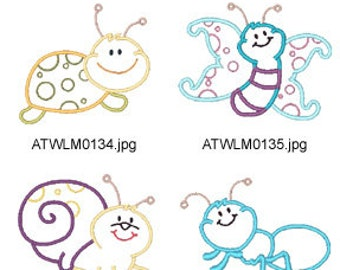 Applique-Bugs-2 ( 10 Machine Embroidery Designs from ATW ) XYZ17D