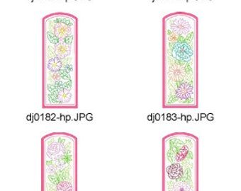 ITH-Floral-Multiline-Bookmarks-5x7 ( 10 Machine Embroidery Designs from ATW ). XYZ17F
