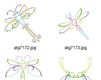 Art-Deco-Dragonflies ( 8 Machine Embroidery Designs from ATW ) XYZ17D ev16