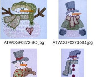 Mylar-Winter-Daze ( 9 Machine Embroidery Designs from ATW ) XYZ17F