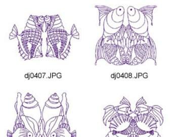 Redwork-Sea-Blocks ( 10 Machine Embroidery Designs from ATW ) XYZ17E