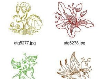 Lovely-leaves ( 10 Machine Embroidery Designs from ATW ) XYZ17C