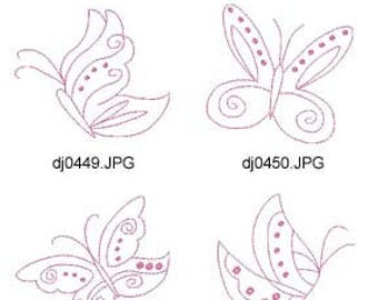 Redwork-Butterflies ( 10 Machine Embroidery Designs from ATW ) XYZ17E