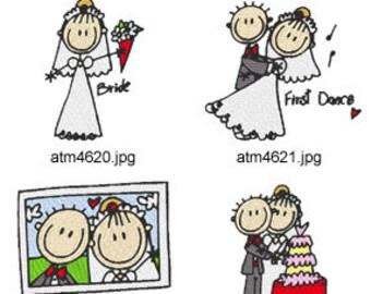 A-Kids-View-Wedding ( 7 Machine Embroidery Designs from ATW ). XYZ17C