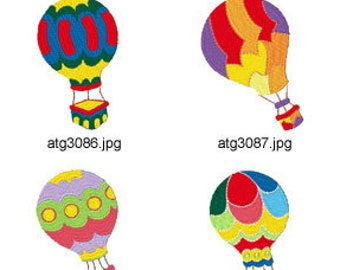 Hot Air Ballon ( 10 Machine Embroidery Designs from ATW ). XYZ17D