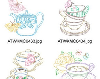 Multiline-Vintage-Coffee ( 10 Machine Embroidery Designs from ATW ) XYZ17C