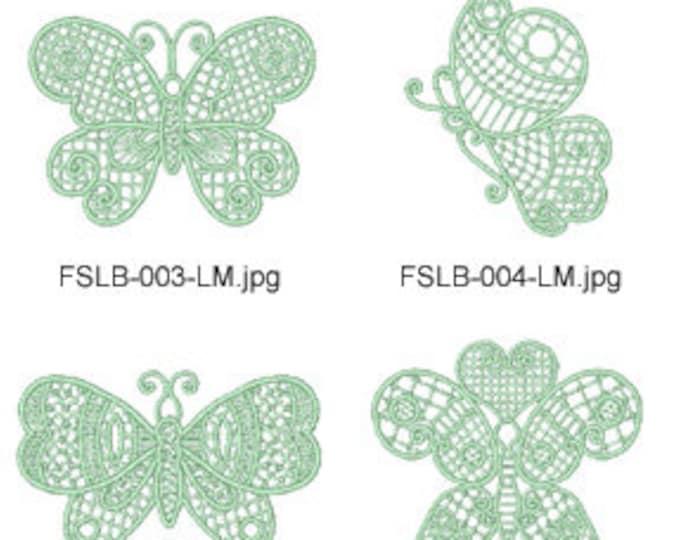 FSL-Butterflies  ( 10 Machine Embroidery Designs from ATW ) XYZ17E