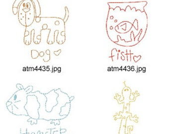 Back-To-Basics-House-Pet ( 7 Machine Embroidery Designs from ATW ) XYZ17D