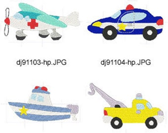 Emergency-911-Vehicles-1 ( 7 Machine Embroidery Designs from ATW ) XYZ17D