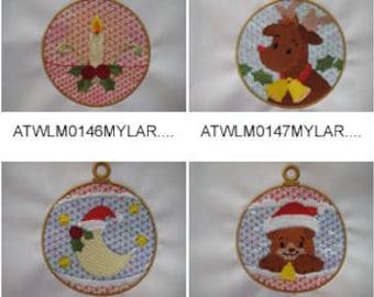 Mylar-Christmas-Ornaments ( 10 Machine Embroidery Designs from ATW ) XYZ17K