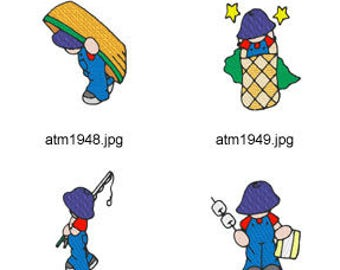 Camping-Sunbonnet-Boys ( 7 Machine Embroidery Designs from ATW ) XYZ17D