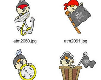 Pirate-Peekers  ( 7 Machine Embroidery Designs from ATW ) XYZ17E