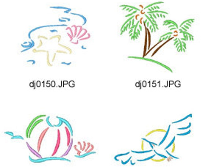 Deco-Outline-Summer ( 10 Machine Embroidery Designs from ATW ) XYZ17E