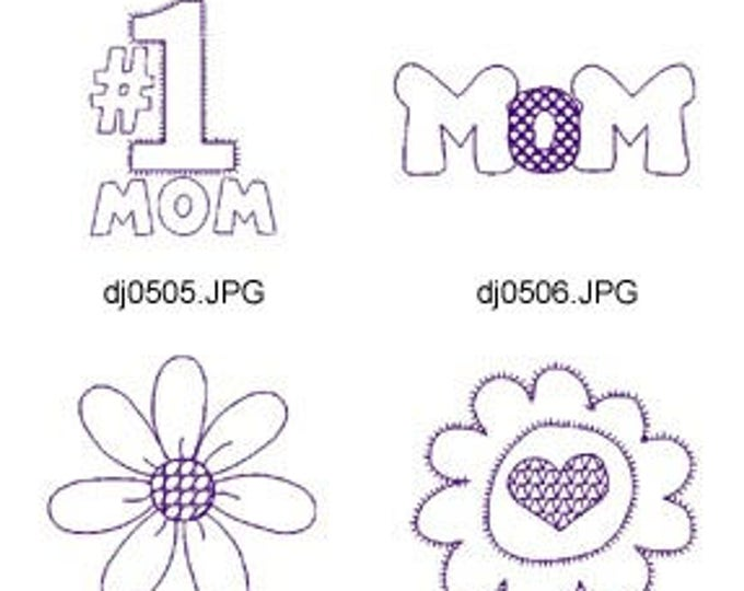 Redwork-Mothers-Day ( 7 Machine Embroidery Designs from ATW ) XYZ17C