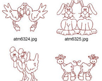 Noahs-Ark-Redwork-2 ( 7 Machine Embroidery Designs from ATW ) XYZ17D