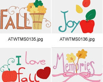 Fall-Time ( 10 Machine Embroidery Designs from ATW ) XYZ17C