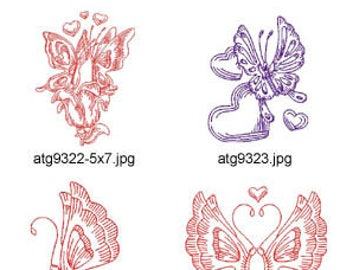 Hearts-and-Butterfly-Redwork ( 14 Machine Embroidery Designs from ATW ) XYZ17E