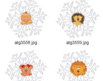 Snowflake-Pals-2 ( 8 Machine Embroidery Designs from ATW ) XYZ17C