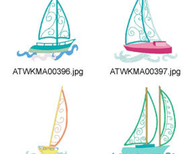 Curly-Sailing-Applique-5x7  ( 10 Machine Embroidery Designs from ATW ) XYZ17E