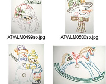 Vintage-Christmas-Cards ( 8 Machine Embroidery Designs from ATW ) XYZ17K