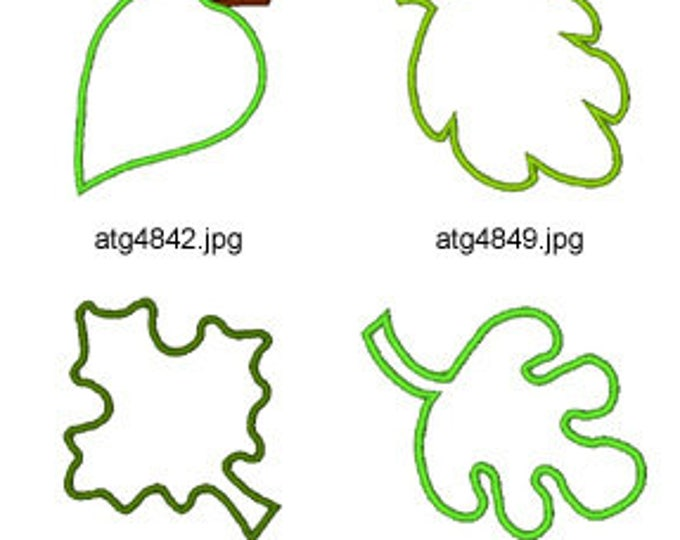 Applique-Leaves ( 5 Machine Embroidery Designs from ATW ) XYZ17E