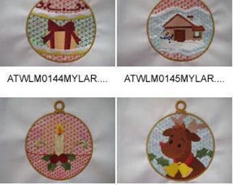 Mylar-Christmas-Ornaments ( 10 Machine Embroidery Designs from ATW ) XYZ17F