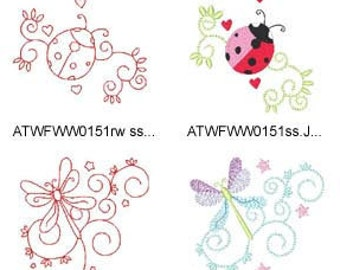 Curly-Spring ( 20 Machine Embroidery Designs from ATW ) XYZ17C