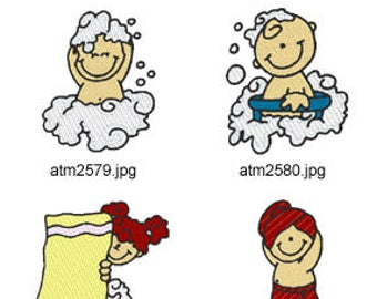 Bath-Kids ( 7 Machine Embroidery Designs from ATW ) XYZ17C