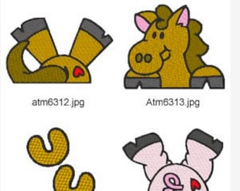 Farm Toppers  ( 10 Machine Embroidery Designs from ATW )