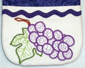 Decorated Fruit Pot Holders  ( 11 Machine Embroidery Designs from ATW )