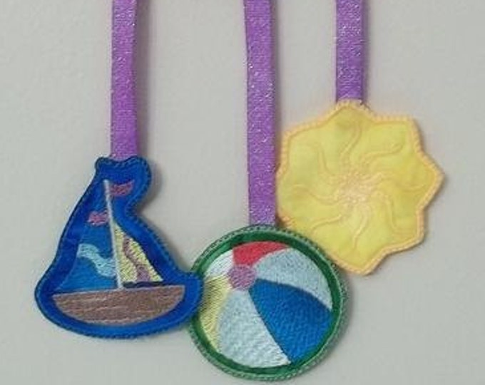 Seasonal Mobile - Summer   ( 4 Machine Embroidery Designs from ATW )