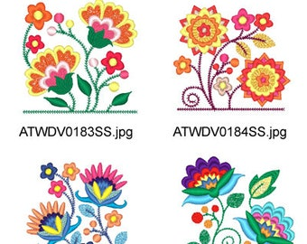 Jacobean-Pocket-Toppers ( 10 Machine Embroidery Designs from ATW ) XYZ17D