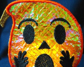 Halloween Mylar Tealights In-The-Hoop   ( 10 Machine Embroidery Designs from ATW )