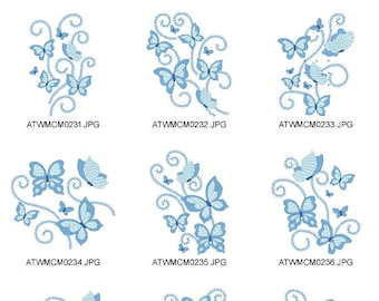 Butterflies-New-Style  ( 10 Machine Embroidery Designs from ATW )