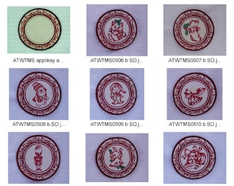 Christmas-Coasters ( 10 Machine Embroidery Designs from ATW ) XYZ17B