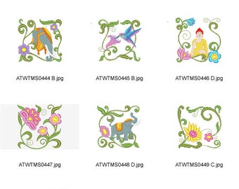 Jacobean-Indian ( 10 Machine Embroidery Designs from ATW ) XYZ17B