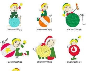 A-Kids-View-Ornament-Elves ( 7 Machine Embroidery Designs from ATW ) XYZ17B