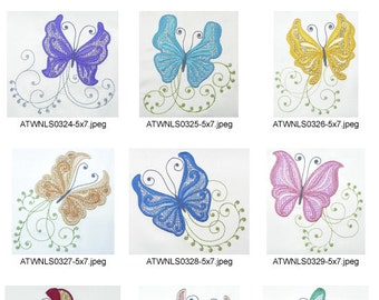 Freedom-Butterflies-5x7 ( 10 Machine Embroidery Designs from ATW )