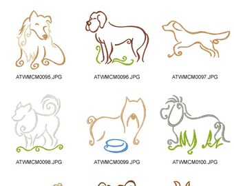 Magic-Dogs. ( 10 Machine Embroidery Designs from ATW )