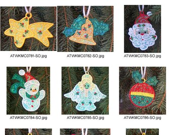 Christmas-Ornaments ( 10 Machine Embroidery Designs from ATW ) XYZ17B