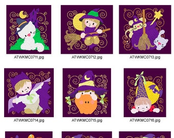 Halloween-Blocks ( 10 Machine Embroidery Designs from ATW ) XYZ17B