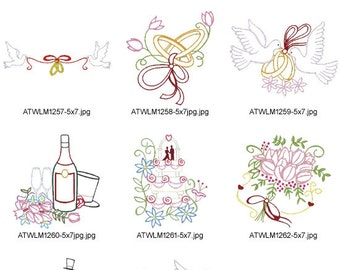 Multi-Color-Wedding-5x7 ( 10 Machine Embroidery Designs from ATW ).ev03