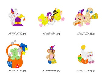 Halloween-Friends. ( 11 Machine Embroidery Designs from ATW )