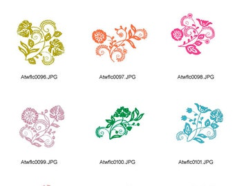 Multicolor-Floral-Ornaments. ( 10 Machine Embroidery Designs from ATW )
