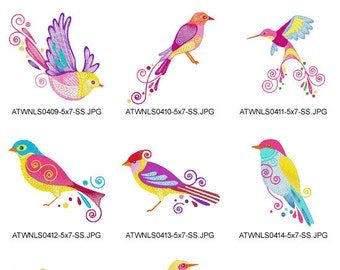 Exotic-Birds-2 ( 10 Machine Embroidery Designs from ATW )