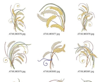 Wheat-Art-5X7  ( 10 Machine Embroidery Designs from ATW )