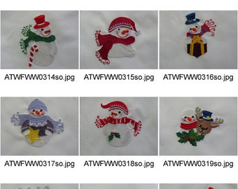 Little-Snowmen ( 10 Machine Embroidery Designs from ATW ) XYZ17B